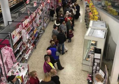 The glorious queue for signed books in Tesco