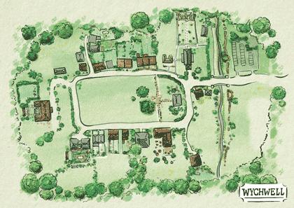 Wychwell Map
